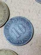 Германия 10 пфенингов 1876 года АА Аукцион с рубля. Под заказ