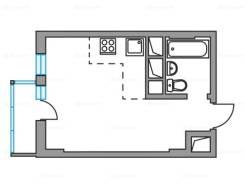 1-комнатная, го. частное лицо, 24,3кв.м.