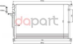 Радиатор кондиционера Audi Ауди a8 02-10 SAT STAD023940