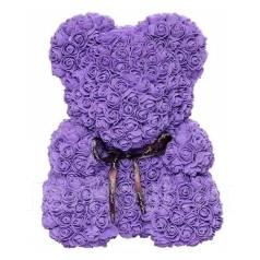 Шикарный подарок. Мишка из роз 3D высотой 20 см