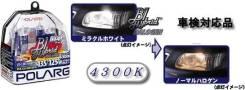 Лампы H4 12V 60/55W=> 135/125W 4300K P43t-38 T16 (2шт. в блистере) POLARG P0874