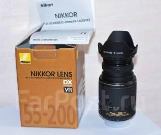 Объектив AF-S DX Nikkor 55-200mm f/4-5.6G ED VR II. Для Nikon, диаметр фильтра 52 мм