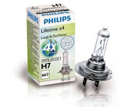 Лампа H7 12V 55W PX26d (серия LongLife EcoVision) PHILIPS 12972LLECOC1