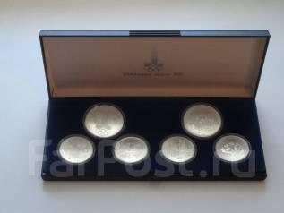 Олимпиада-80 набор №1 (города). Серебро 900 пр. UNC. ЛМД.