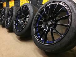 "Колеса Weds Sport SA-72R+ резина в подарок. 7.5/8.5x18"" 5x100.00 ET45/45"