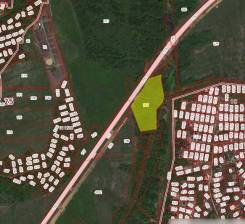 Продам 4 Га у трассы. 40 000кв.м., собственность, электричество, вода, от частного лица (собственник). План (чертёж, схема) участка
