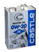 Масло моторное Toyota/Castle 0w20, SN/CF, 4 л+Бесплатная Замена. Вязкость 0W-20