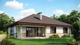 Проект дома Z10 (полный комплект). 100-200 кв. м., 1 этаж, 4 комнаты, кирпич
