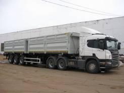Scania P420CA. Продается сцепка Scania c полуприцепом самосвалом Новтрак 2012г, 11 705куб. см., 33 500кг.