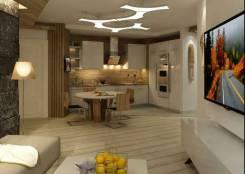3-комнатная, улица Тигровая 16а. Центр, частное лицо, 111кв.м. Дизайн-проект