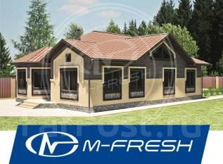 M-fresh Columbia (Проект дома с интересным эркером в столовой! ). 100-200 кв. м., 1 этаж, 4 комнаты, бетон