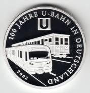 """Германия 2002 медаль """"100 лет трамваю"""" Серебро"""