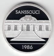 "Германия - ГДР 1986 медаль ""Дворец Сан-Суси"" Серебро"