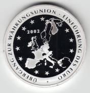 """Германия 2002 медаль """"Еврозона"""" Серебро"""