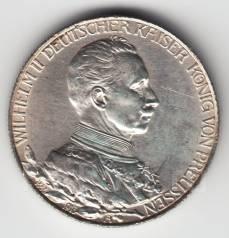"""Германия - Пруссия 2 марки 1913 А """"25 лет правления"""" Серебро"""