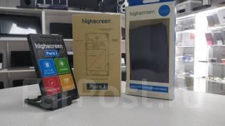 Highscreen Pure J. Б/у, до 8 Гб, Черный, 3G, Dual-SIM