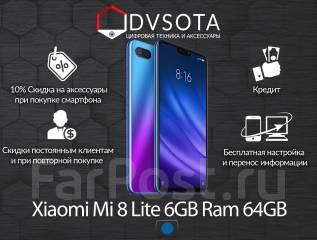 Xiaomi Mi8 Lite. Новый, 64 Гб, Синий, 3G, 4G LTE, Dual-SIM