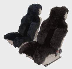 """Накидка меховая """"SENATOR Country Luxe"""" SC012BK комбинированный мех, натур.овчина, ком-кт 2шт.,черный"""