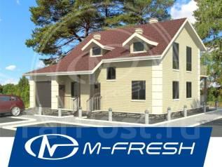 M-fresh Smart power-зеркальный (проект 2-этажного дома). 200-300 кв. м., 2 этажа, 5 комнат, кирпич