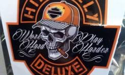 Стикер, наклейка на шлем, мотоцикл Hillbilly. Винил