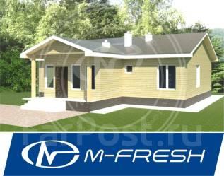 M-fresh Happy choice (Проект одноэтажного дома для Вас! ). 100-200 кв. м., 1 этаж, 4 комнаты, бетон