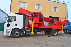 Hansin HS 4570 Plus. Продам Автовышку 45 метров на шасси FORD, 8 974куб. см., 45,00м.