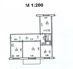 3-комнатная, квартал ДОС (Большой Аэродром) 58. Железнодорожный, частное лицо, 71кв.м.