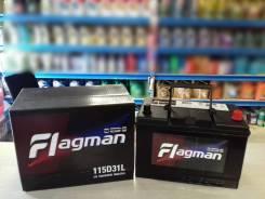 Flagman. 100А.ч., Обратная (левое), производство Корея