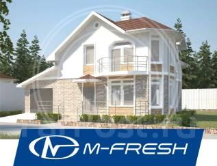 M-fresh Window Magic-зеркальный (Проект удобного дома с гаражом! ). 100-200 кв. м., 2 этажа, 5 комнат, бетон