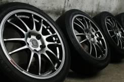 """Только из Японии! Наилегчайшие, очень редкие=Enkei GTC01=+летние шины. 7.0x17"""" 5x114.30 ET45 ЦО 73,0мм."""