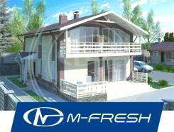M-fresh Mustang (Проект дома с солнечными витражами и террасой! ). 200-300 кв. м., 2 этажа, 5 комнат, бетон