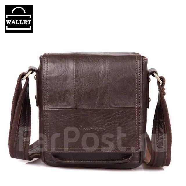 80345f781e50 Маленькая мужская сумка на плечо, Коричневая, Натуральная кожа, C ...