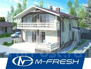 M-fresh Mustang-зеркальный (Посмотрите этот проект дома с витражами! ). 200-300 кв. м., 2 этажа, 5 комнат, бетон