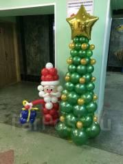 Новогоднее оформление (украшение) воздушными шарами