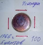 Уганда 5 центов 1966 года