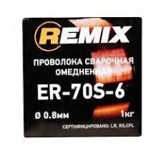 Проволока сварочная 0,8мм 1 кг. омедненная REMIX, , шт