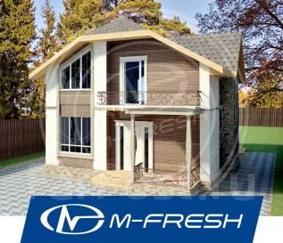 M-fresh Jamaica (Отличный проект дома с витражами и террасой! ). 100-200 кв. м., 2 этажа, 5 комнат, бетон