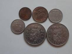 Нидерланды подборка из 6 монет. Без повторов! Торги с 1 рубля!