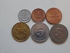 Латинская Америка подборка из 6 монет. Без повторов! Торги с 1 рубля!