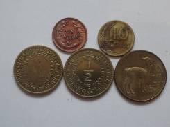 Перу подборка из 5 монет. Без повторов! Торги с 1 рубля!