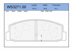 Колодки тормозные дисковые   зад   JEENICE WS327100