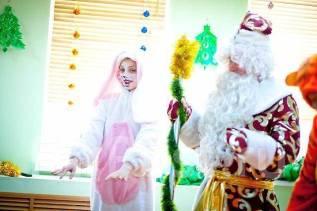 Дед Мороз, Снегурочка, Зайчик - новогоднее поздравление на дом