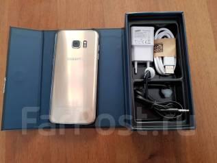 Samsung Galaxy S7 Edge. Б/у, 32 Гб, Золотой, 4G LTE, Dual-SIM, Защищенный