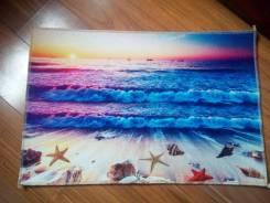 """Стильный 3D-коврик (ковёр) для интерьера """"Море"""". Реал. фото. Качество!"""