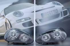 Комплект Новых Оригинальных фар черные диодные фары для Porsche cayenn