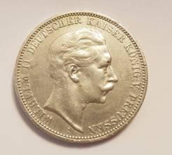 3 марки 1912 А, Пруссия, серебро, оригинал