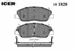 Комплект тормозных колодок диско Icer 181828 Hyundai / Kia (Mobis): 58101-3MA20 58101-3MA00 58101-3MA01 58101-2PA70 58101-4DU00 58101-2WA70