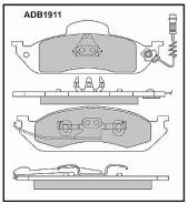 Колодки передние Allied Nippon ADB1911 Mercedes-Benz: 1911 1634200320 Mercedes-Benz M-Class (W163)