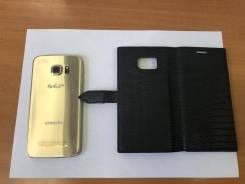 Samsung Galaxy S6 Edge. Б/у, 64 Гб, Золотой, 4G LTE, Защищенный