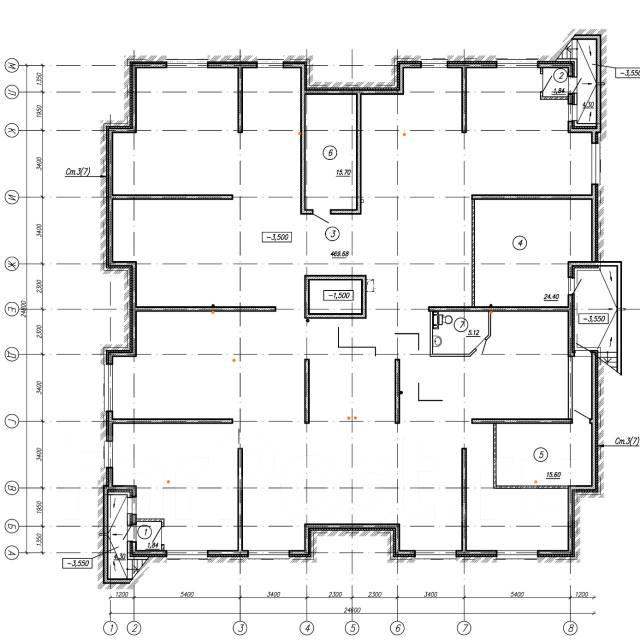 Продажа цокольного помещения 474 кв. м. в городе Находка. Проспект Северный 32 стр. 2, р-н МЖК, 473кв.м. План помещения